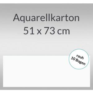 Aquarellkarton rauh 200 g/qm 51 x 73 cm