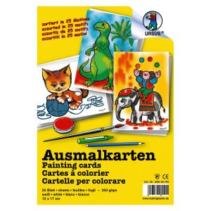 Ausmal-Karten 250 g/qm