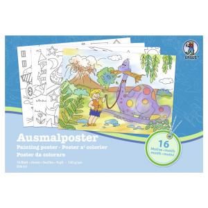"""Ausmal-Poster """"Jungen"""" 120 g/qm"""