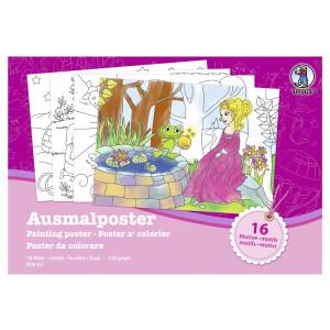 """Ausmal-Poster """"Mädchen"""" 120 g/qm"""
