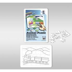 "Ausmal-Puzzle ""Eisenbahn"""