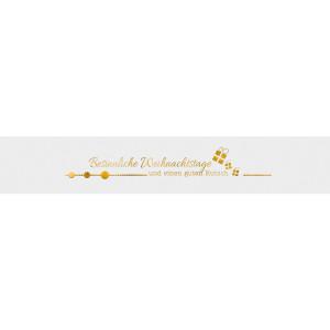 """Banderolen """"Besinnliche Weihnachtstage"""" weiss/gold - Motiv 11"""