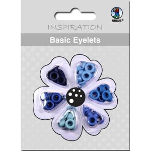 Basic Eyelets 3 mm blau