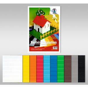 Bastel-Stegplatten 50 x 70 cm - 10 Platten sortiert