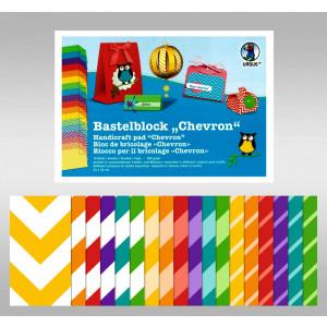 "Bastelblock ""Chevron"" 24 x 34 cm - 18 Blatt"