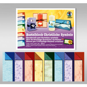 "Bastelblock ""Christliche Symbole"" 24 x 34 cm - 16 Blatt"