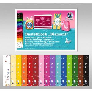 "Bastelblock ""Diamant"" 22 x 33 cm - 15 Blatt"