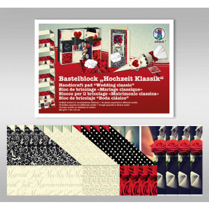 "Bastelblock ""Hochzeit Klassik"" 24 x 34 cm - 16 Blatt"