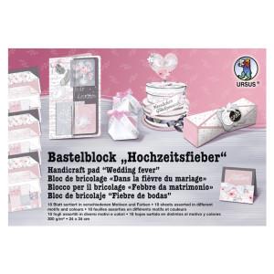 "Bastelblock ""Hochzeitsfieber"" 24 x 34 cm - 18 Blatt"