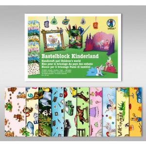 """Bastelblock """"Kinderland"""" 24 x 34 cm - 16 Blatt"""
