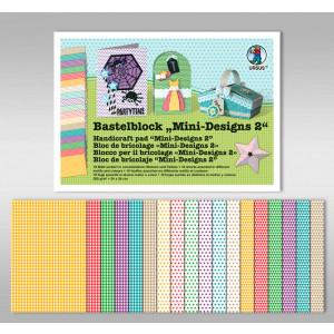 "Bastelblock ""Mini-Designs 2"" 24 x 34 cm - 18 Blatt"