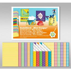 "Bastelblock ""Mini-Designs"" 24 x 34 cm - 18 Blatt"