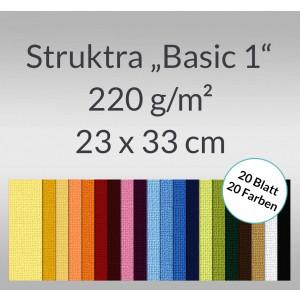 "Bastelblock Struktura ""Basic 1"" 23 x 33 cm - 20 Blatt"