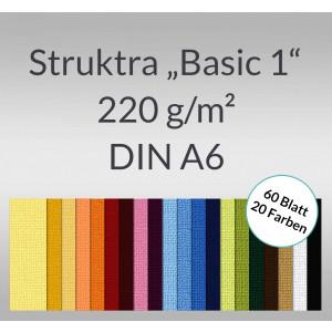 "Bastelblock Struktura ""Basic 1"" DIN A6 - 60 Blatt"