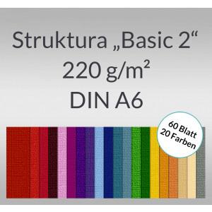 "Bastelblock Struktura ""Basic 2"" DIN A6 - 60 Blatt"