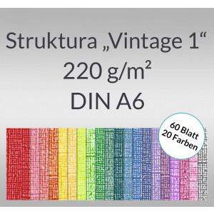 """Bastelblock Struktura """"Vintage 1"""" DIN A6 - 60 Blatt"""