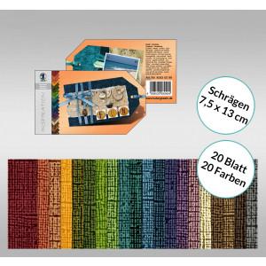 """Bastelblock Struktura """"Vintage 2"""" 7,5 x 13 cm Schrägen - 20 Blatt"""
