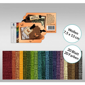 "Bastelblock Struktura ""Vintage 2"" 7,5 x 13 cm Wellen - 20 Blatt"