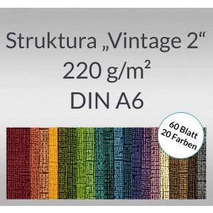 """Bastelblock Struktura """"Vintage 2"""" DIN A6 - 60 Blatt"""