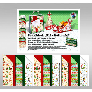 "Bastelblock ""Süße Weihnacht"" 24 x 34 cm - 18 Blatt"