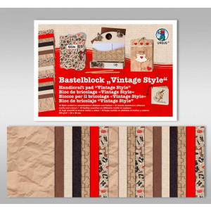 "Bastelblock ""Vintage Style"" 24 x 34 cm - 18 Blatt"