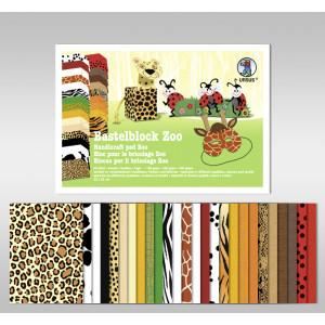 "Bastelblock ""Zoo"" 23 x 33 cm - 26 Blatt"