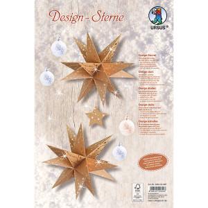 Bastelset Design Sterne aus Kraftkarton