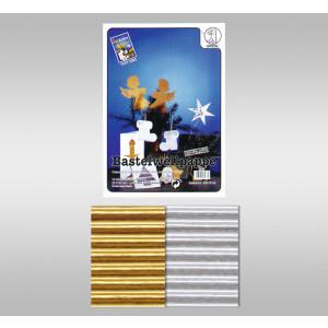 Bastelwellpappe 260 g/qm 23 x 33 cm - 10 Blatt gold und silber