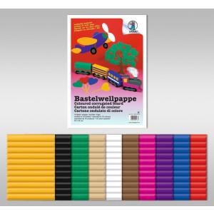 Bastelwellpappe 260 g/qm 50 x 70 cm - 10 Bogen sortiert