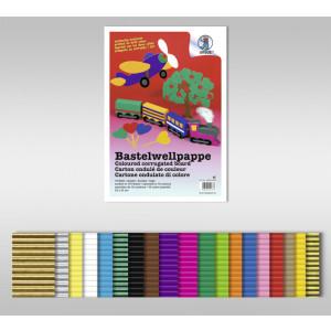 Bastelwellpappe 260 g/qm 50 x 70 cm - 15 Bogen sortiert