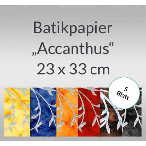 """Batikpapier """"Accanthus"""" 23 x 33 cm - 5 Blatt"""