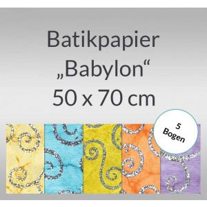 """Batikpapier """"Babylon"""" 50 x 70 cm - 5 Bogen"""