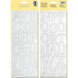 """Blanko-Chipboard """"Buchstaben"""""""