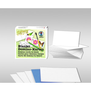Blanko-Domino-Karten 4,5 x 9 cm - 60 Teile