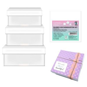 "Blanko-Geschenkkarton-Set ""mini"" quadratisch"