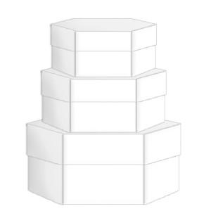 "Blanko-Geschenkkarton-Set ""mini"" sechseckig"