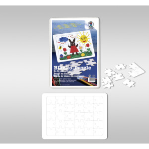 Blanko-Puzzle 29 x 37 cm - 72 Teile
