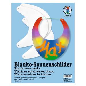 Blanko-Sonnenschilder zum Selbstgestalten