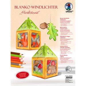 """Blanko-Windlicht """"Herbstzeit"""""""