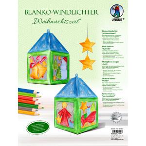 """Blanko-Windlicht """"Weihnachtszeit"""""""