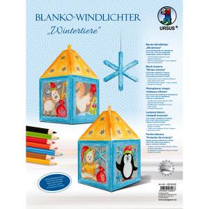 """Blanko-Windlicht """"Wintertiere"""""""