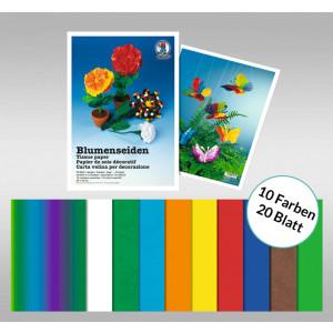 Blumenseide 20 g/qm 23 x 33 cm - 20 Blatt sortiert