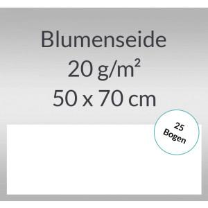Blumenseide 20 g/qm 50 x 70 cm weiß - 25 Bogen