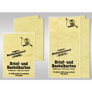 Brief- und Bastelkarten DIN A6 Elefantenhaut 190 g/qm - 10 Karten