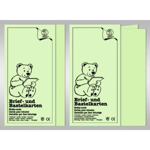 Brief- und Bastelkarten DIN A6 hochdoppelt - 10 Karten