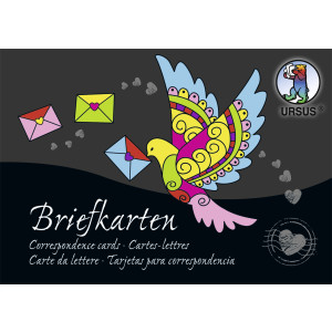 Briefkarten-Block 220 g/qm, DIN A6, 84 Blatt Sortiert in 28 Farben, bunt