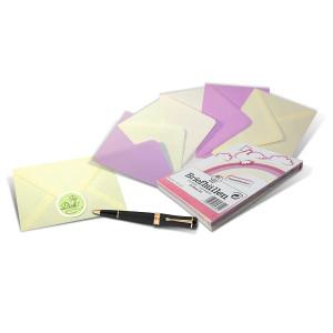 Briefumschläge DIN C6 Pastellfarben, 25 Stück
