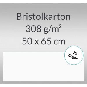 Bristolkarton 308 g/qm 50 x 65 cm