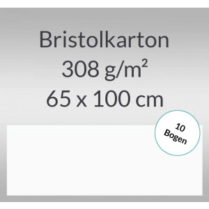Bristolkarton 308 g/qm 65 x 100 cm