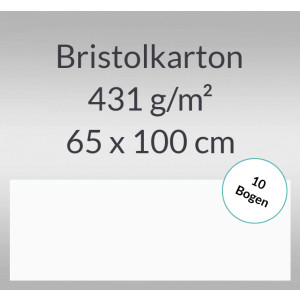 Bristolkarton 431 g/qm 65 x 100 cm